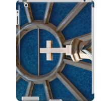 Granite Cross agains stained glass window iPad Case/Skin