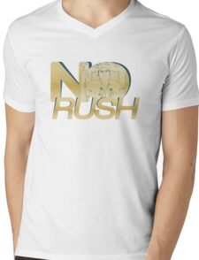 No Rush Mens V-Neck T-Shirt