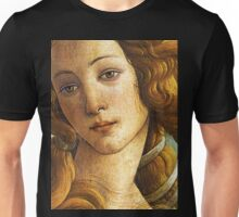 The Birth of Venus - Face Detail Unisex T-Shirt