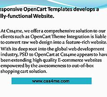 Css4me empowers E-commerce website by its Responsive OpenCart Templates. by css4me111