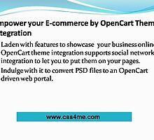 OpenCart Theme Integration empowers your E-commerce.   by css4me111