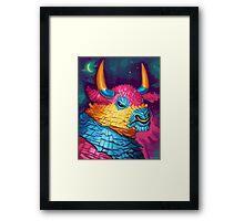 Bull Piñata Framed Print