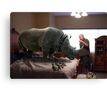 Bad Rhino! Canvas Print