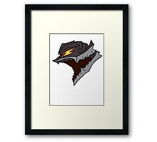 Berserk Armor Helmet - Black Outlines  Framed Print