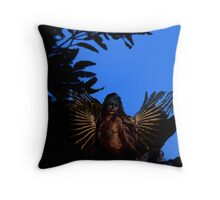 Angel with blue sky. Throw Pillow