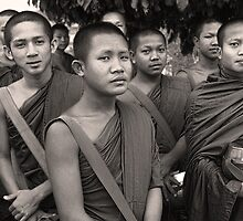 Morning Alms - Pakse, Laos by Alex Zuccarelli
