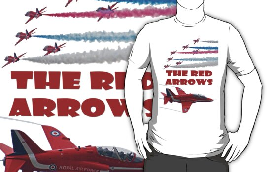 The Red Arrows T Shirt by Colin J Williams Photography