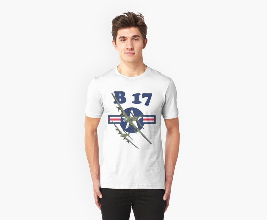 B 17 Tee Shirt by Colin  Williams Photography