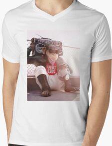 Monkey Beat Mens V-Neck T-Shirt