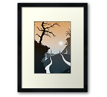 Mountain paths Framed Print