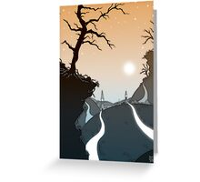 Mountain paths Greeting Card