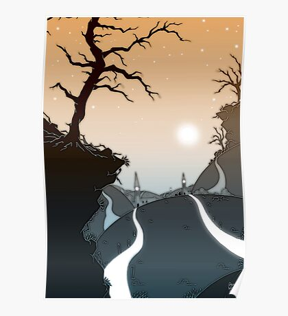 Mountain paths Poster