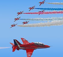 Red Arrows I Pad Case by Colin  Williams Photography