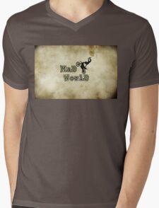 MAD WORLD MOTO X. Mens V-Neck T-Shirt