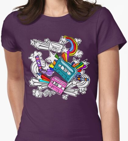 I'd Like to Spend The  Day Colouring with Crayons Womens Fitted T-Shirt
