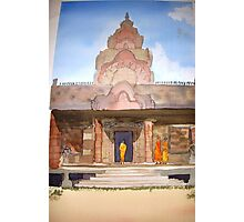 Monks at  Phnom Rung Khmer temple, Thailand Photographic Print