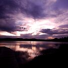 Merimbula Lake Dusk Reflections No. 1 by Erin Davis