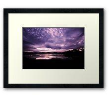 Merimbula Lake Dusk Reflections No. 3 Framed Print