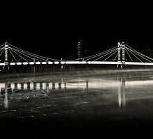 Albert Bridge Reflection  London by Suzanne Kirstein