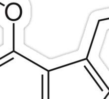 Psilocybin molecule shirt (dark on light) Sticker