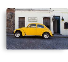punch buggy yellow Canvas Print