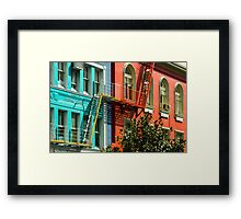 Colourful Office Buildings New Zealand Framed Print