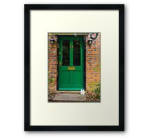 The Green Door England Framed Print