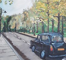 London Cab by Caroline  Hajjar Duggan