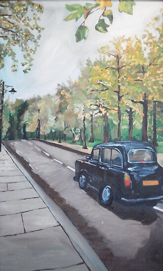 London Cab by Caroline  Hajjar Duggan