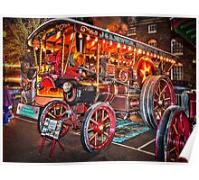 Steam Engine Berkshire England Poster