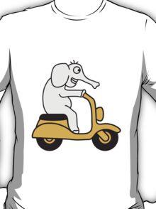 Moped Elephant T-Shirt