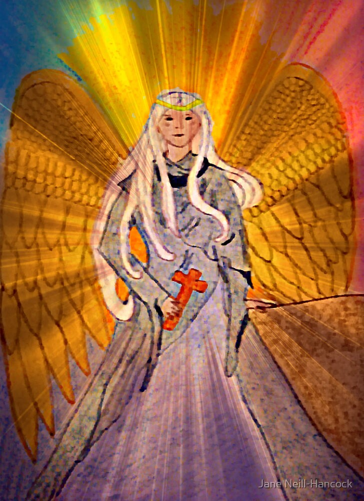 Rainbow Angel - Variation 2 by Jane Neill-Hancock