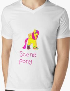 scene pony Mens V-Neck T-Shirt