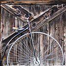 Photography Studio door/Bicycle built for one? by Nancy Richard
