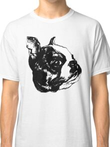 """Garbo"" Boston Terrier Graphic ~ black and white Classic T-Shirt"