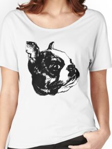 """""""Garbo"""" Boston Terrier Graphic ~ black and white Women's Relaxed Fit T-Shirt"""