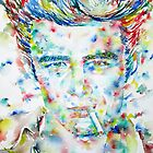 JAMES DEAN - watercolor portrait by lautir