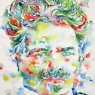 AUGUST STRINDBERG - watercolor portrait by lautir
