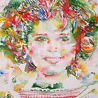 SHIRLEY TEMPLE - watercolor portrait.1 by lautir