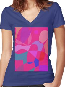 Pink Connections Women's Fitted V-Neck T-Shirt