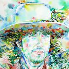 BOB DYLAN - WATERCOLOR PORTRAIT.1 by lautir