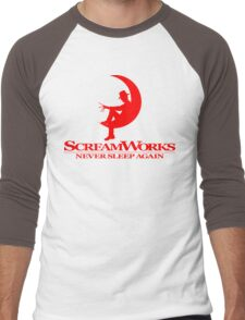 ScreamWorks (Red) Men's Baseball ¾ T-Shirt