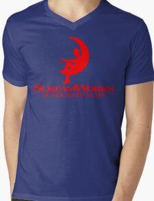 ScreamWorks (Red) Mens V-Neck T-Shirt