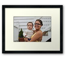 "Kayla and Her Favorite ""Little Man"" Framed Print"