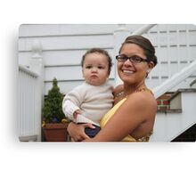 """Kayla and Her Favorite """"Little Man"""" Canvas Print"""