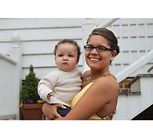 """Kayla and Her Favorite """"Little Man"""" Photographic Print"""