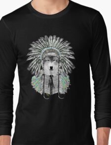 Indian chief wolf  Long Sleeve T-Shirt