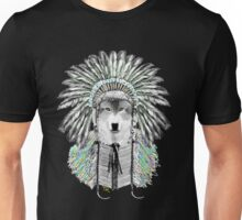 Indian chief wolf  Unisex T-Shirt