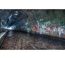 The Tagged Tunnel (alternate) Photographic Print