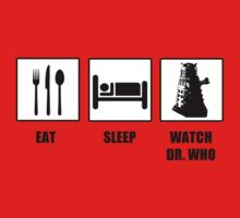 Eat Sleep Watch Doctor Who One Piece - Short Sleeve